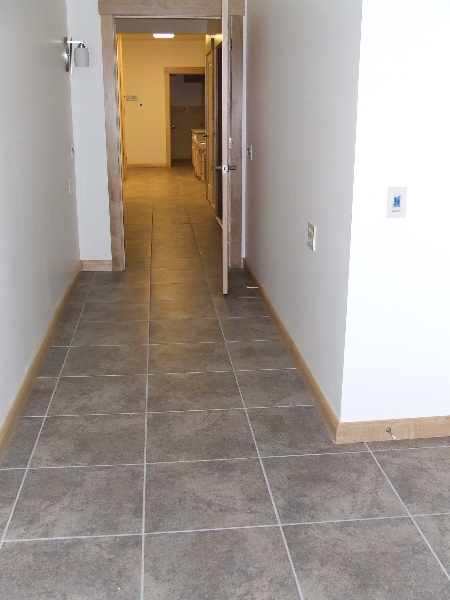 Hallway over 50 wide for wheelchair access looking from for Handicap hallway width