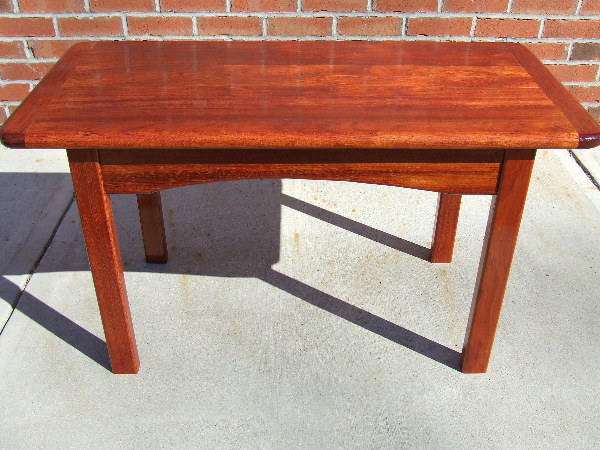 Brazilian Cherry Coffee Table. Brazilian Cherry Coffee Table. Top View.  Brazilian Cherry Coffee Table. Side View.