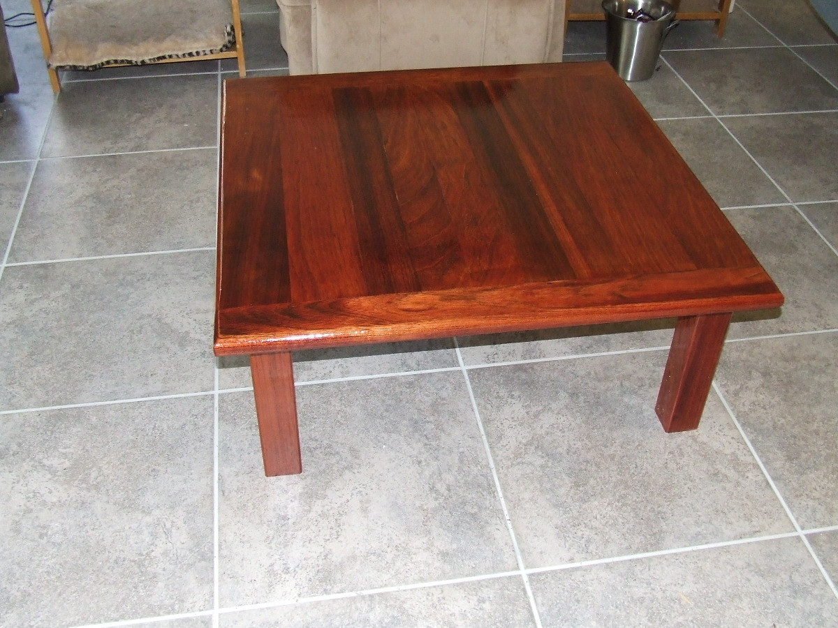 Table20141214csmlg brazilian cherry coffee table 36 square and 1 thick wood geotapseo Choice Image